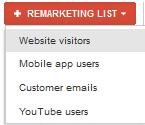 add remarketing list adwords