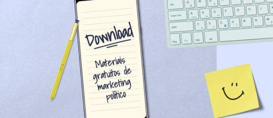 Materiais gratuitos de marketing político para download