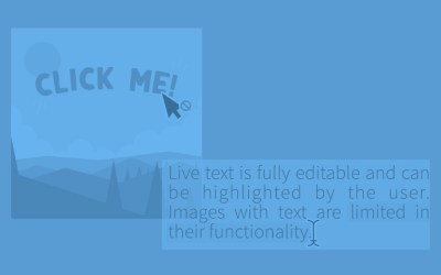 A Picture Isn't Always Worth 1,000 Words (The Value of Live Text)
