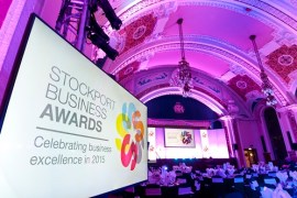 Stockport Business Awards at Stockport Town Hall.