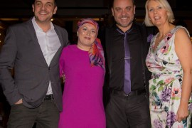 Mike Toolan, Kirsty Cooke, Lee Boardman and Angela Gray at the Beechwood ladies' lunch