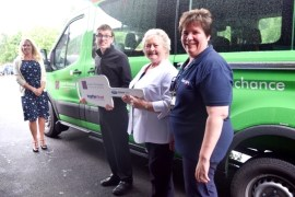 The Lord's Taveners present Minibus to Together Trust