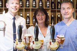 Ben Faulkner (RSPCA), Gill Yates (Robinsons), and David Yates (RSPCA)