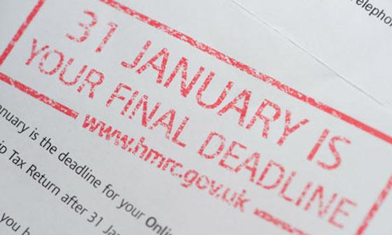 Tax return deadline 31st January
