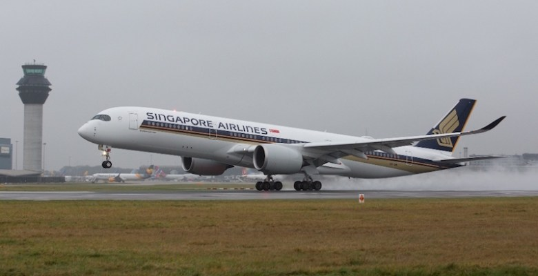 Singapore Airlines A350 UK launch from Manchester ...