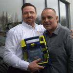 Defib donated to 1000 Hearts for Harry, heart screening charity