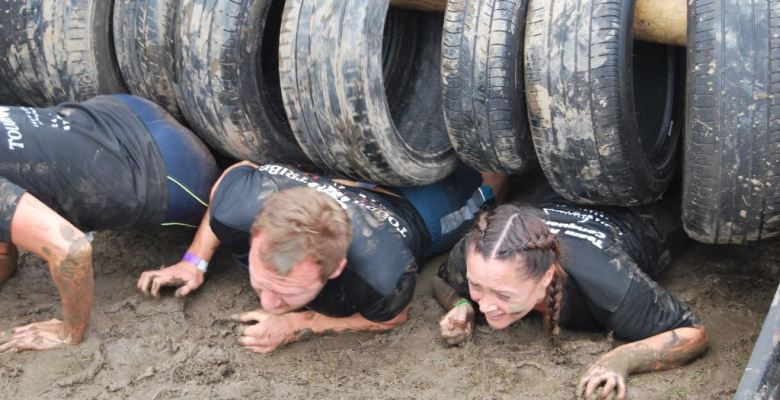 Participants tackle the obstacles in last year's successful Tough Tribe race