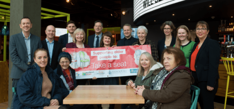 Take a Seat campaign launches in Stockport town centre