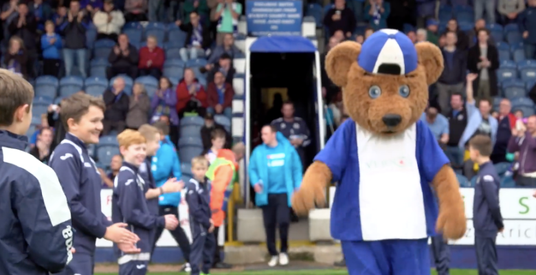 Stockport's Vernon Bear stars in Blossoms Mockumentary!