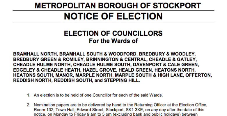 Stockport Local Elections