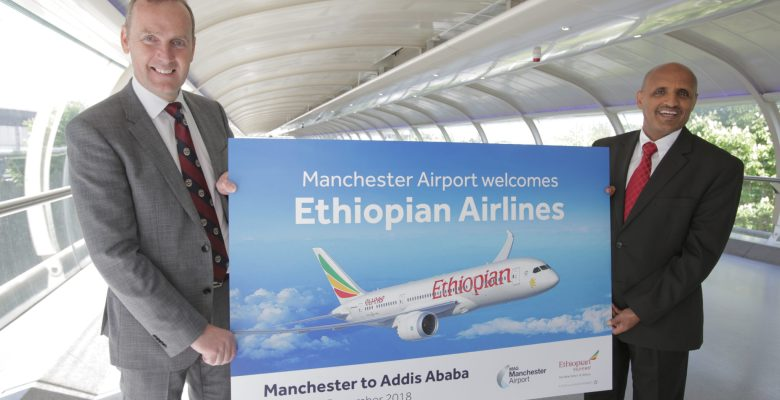 Ethiopian Airlines launches new route from Manchester to Addis Ababa