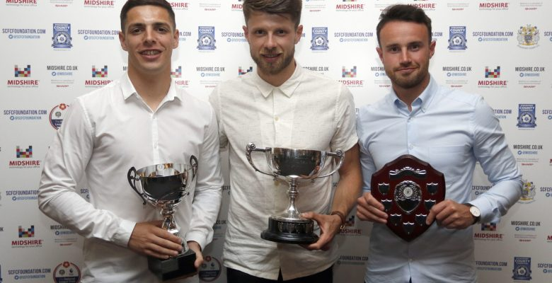 Stockport County winning players Duxbury_Oswell_Warburton