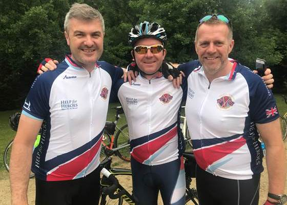 #BBBR18 500k charity bike ride in support of Help For Heroes.