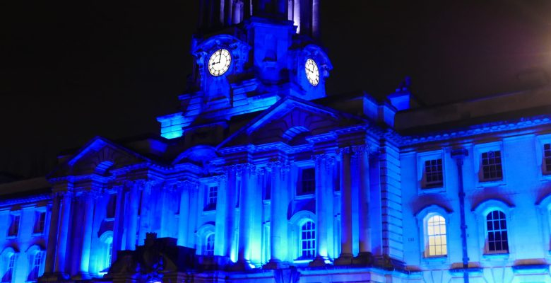 Stockport Town Hall lights up blue for NHS 70th birthday