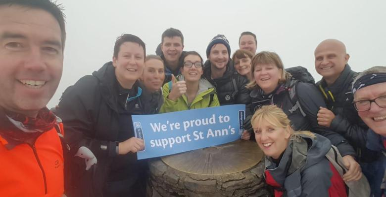 Equity conquer Snowdon for St Ann's Hospice