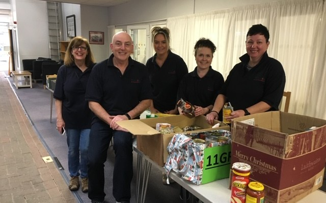 Vernon team at Stockport Foodbank