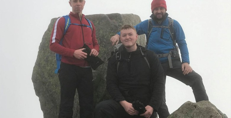 Stockport College Dave Morgan son and family friend lower altitude