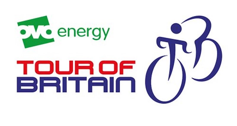 Tour of Britain logo Stockport route