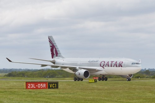 Qatar flights from Manchester airport