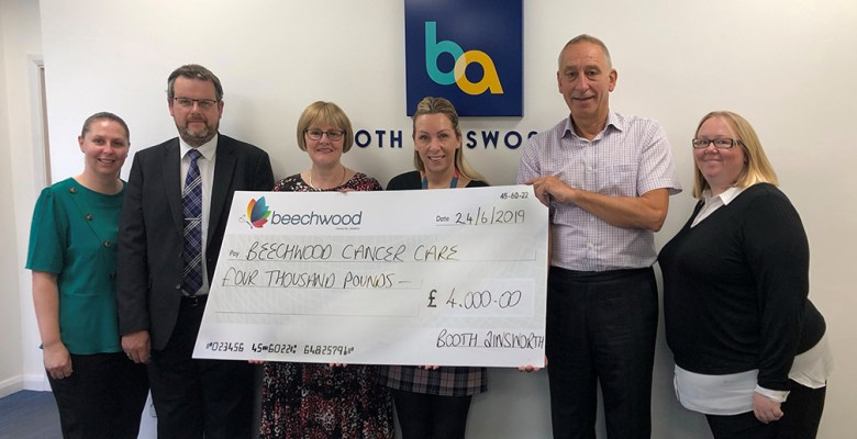 Booth Ainsworth raised £4,000 for Beechwood Cancer Care