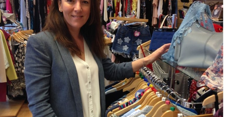 Amanda Brooks, head of the hospice's Trading Company in one of the St Ann's shops.