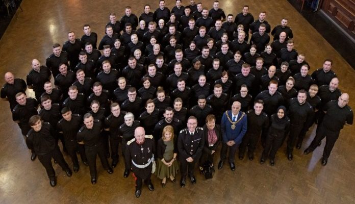 GMP - 100 new officers sworn in