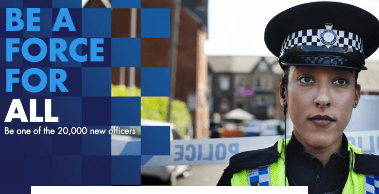 campaign to recruit 20,000 police officers