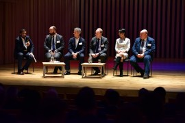 Panelists at the event included Caroline Simpson