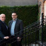 L-R: Director of FIS, Martin O'Reilly; SAS Daniels Corporate Team Partner, Paul Tyrer.