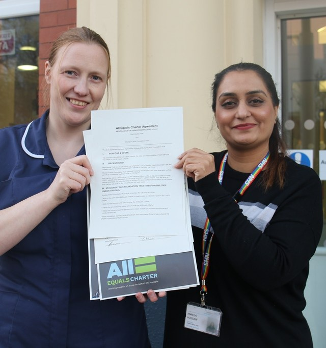 LGBT+ support charter gets backing from Stockport NHS Trust