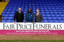 Stockport County welcome new sponsors Fair Price Funerals