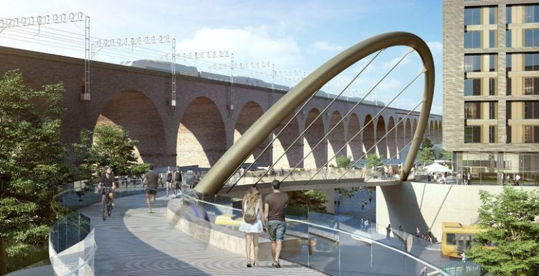 Tree planting scheme proposed to offset construction of new bridge and transport interchange in Stockport