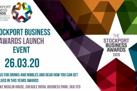 2020 Stockport Business Awards launch event invite
