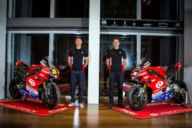 Stockport's Christian Iddon, and superbike teammate Josh Brookes 1