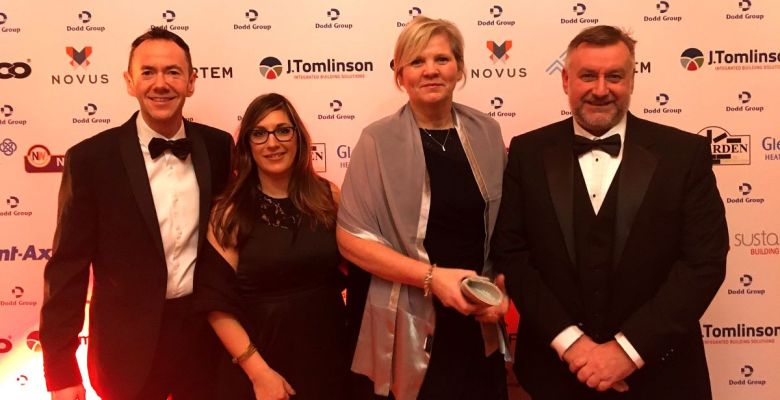 Stockport Homes Repair 1st Team at Building Communities Awards