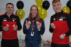 Stockport Sports Village's Jake, Caroline and Jacob join in the one to watch celebrations at leisure provider Life Leisure
