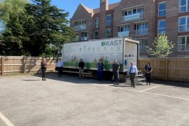 Kast mobile showroom converted into coronavirus testing station
