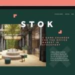 Future Design launch website for STOK