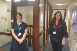 New call centre software Stepping Hill Gill Burrows Andrea Rowbotham