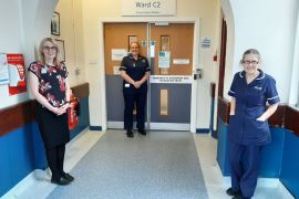 Stepping Hill Hospital Research team members Wiesia Woodyat (quoted), Sara Bennett and Clare Tibke