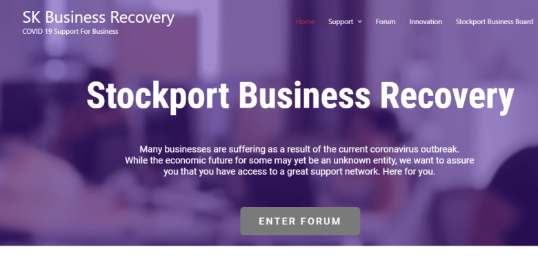 Stockport Business Recovery website