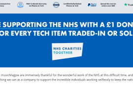 musicMagpie NHS fundraising hits £100k milestone