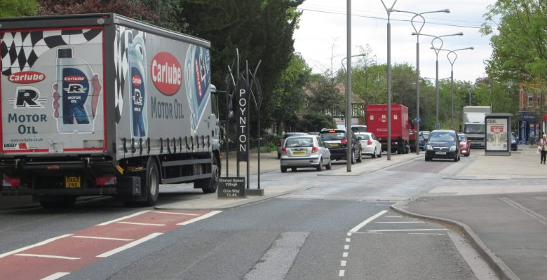 Poynton Traffic will be eased by the new relief road
