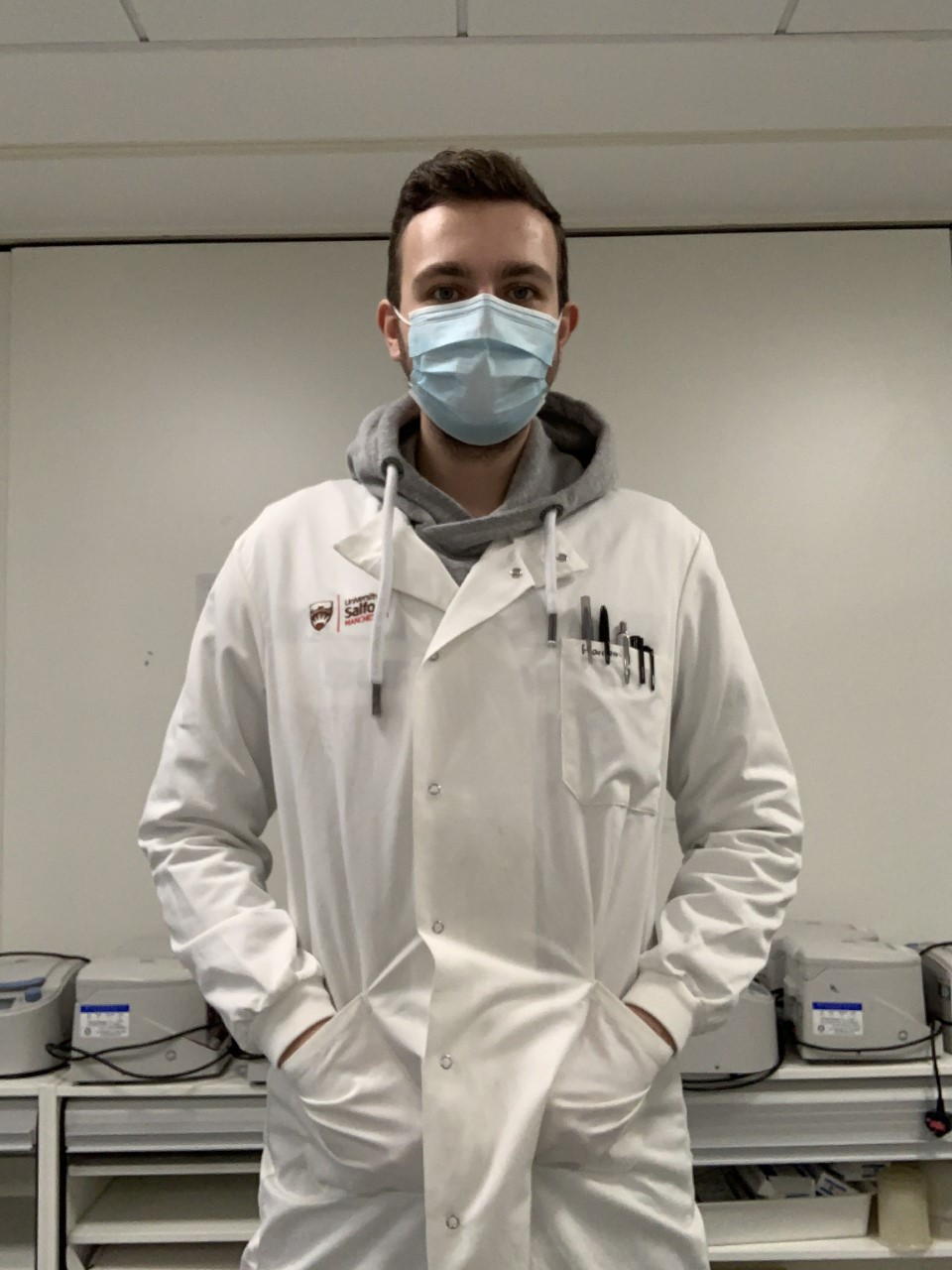 Harrison Barnett was named Stockport College's Best Overall Apprentice of the Year for his work at the Covid-19 testing facility in Alderley Park.