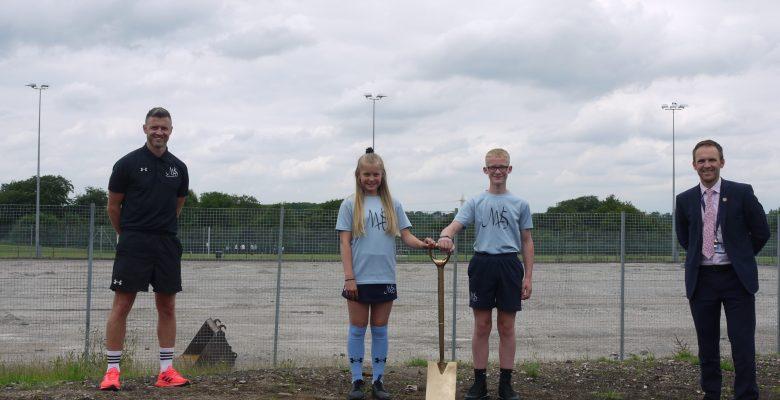Construction begins on new sports facilities at Marple Hall School