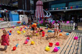 Artificial beach brings seaside to Merseyway