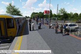 CGI of proposed Cheadle train station