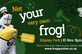Net a Stockport frog from the Gigantic Leap Frog Art Trail auction