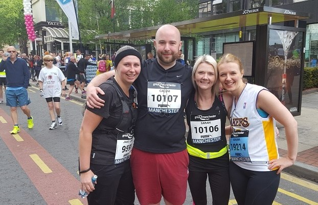 Bennett Verby team at Manchester 10k