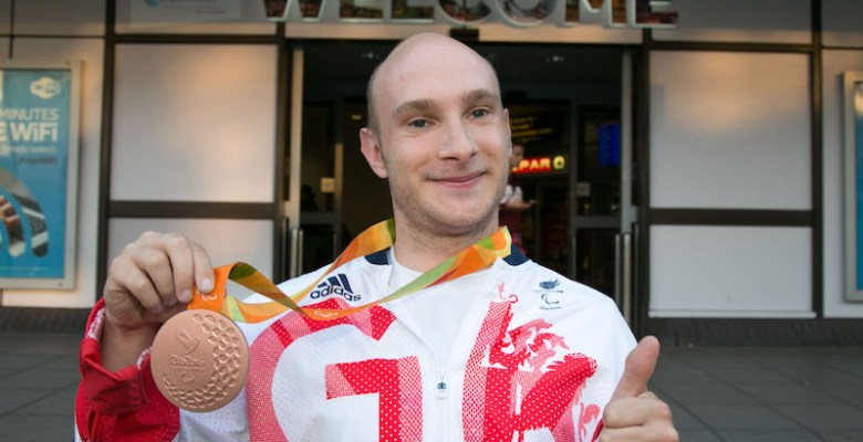 Andy Small won a bronze medal at the Rio Paralympics